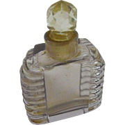Perfume Mini Bottle: Light lavender in color              Circa Est.-1920s