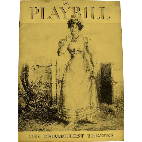 Playbill: The Broadhurst Theatre  1935