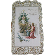 Antique Christmas postcard                                      Circa: 1900 - Red Tag Sale Item