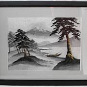 Vintage Japanese Silk framed                                         Circa: 1950s