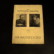 Playbill:The Plymouth Theatre  1934