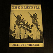 Playbill: The Biltmore Theatre           Circa: 1937