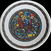 "D'arceau Limoges Christmas Plate ""Noel Vitril"" 1st Plate    Circa: 1975"