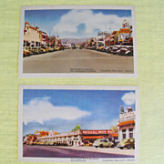 Postcards (2) from Tijuana, Mexico, circa 1930's