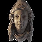 Cast Iron Head plaque, Jenny Lind