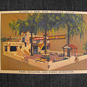 Trade Card or Postcard San Diego Exposition   Circa: 1935