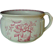 E. M. & Co pink transfer chamber pot
