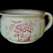 E. M. & Co pink transfer chamber pot