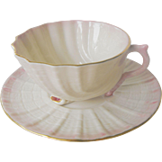 Belleek Shell cup and saucer set