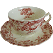 Cup and Saucer in Strawberry Fair by Johnson Bros.  (4)