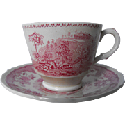 Ridgways Pink Transfer Demitasse set