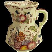 Mason's octagonal jug in fruit basket