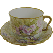 Antique Limoges Cup and Saucer