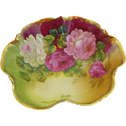 Tirschenreuth artist signed bowl    circa 1903-1927