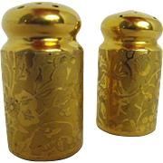 Stouffer all gold salt and pepper     circa 1900s