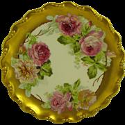 Limoges 8 1/2 inch desert plate artist signed