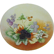 Fraureuth Saxony artist signed Cabinet plate   Circa 1910-1926