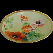 Ginori hand painted artist signed 8 .75 inch bowl