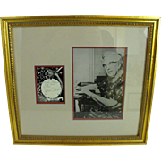 Agatha Christie signature and photo framed