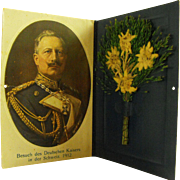 Portrait table Card of Kaiser Wilhelm in Switzerland