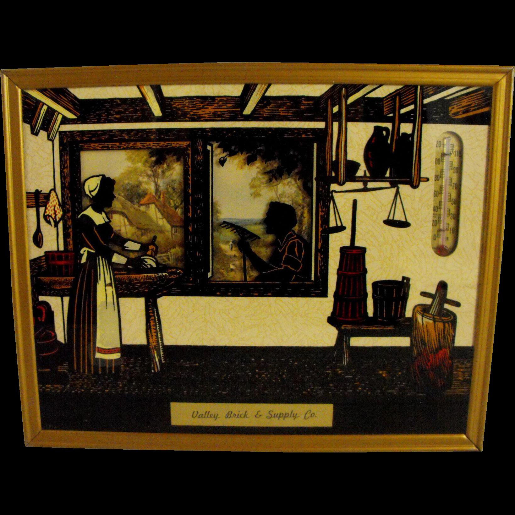 Reverse painting silhouette   Circa: 1953