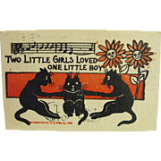 Black Cat Card by R. L. Wells               Circa: 1906
