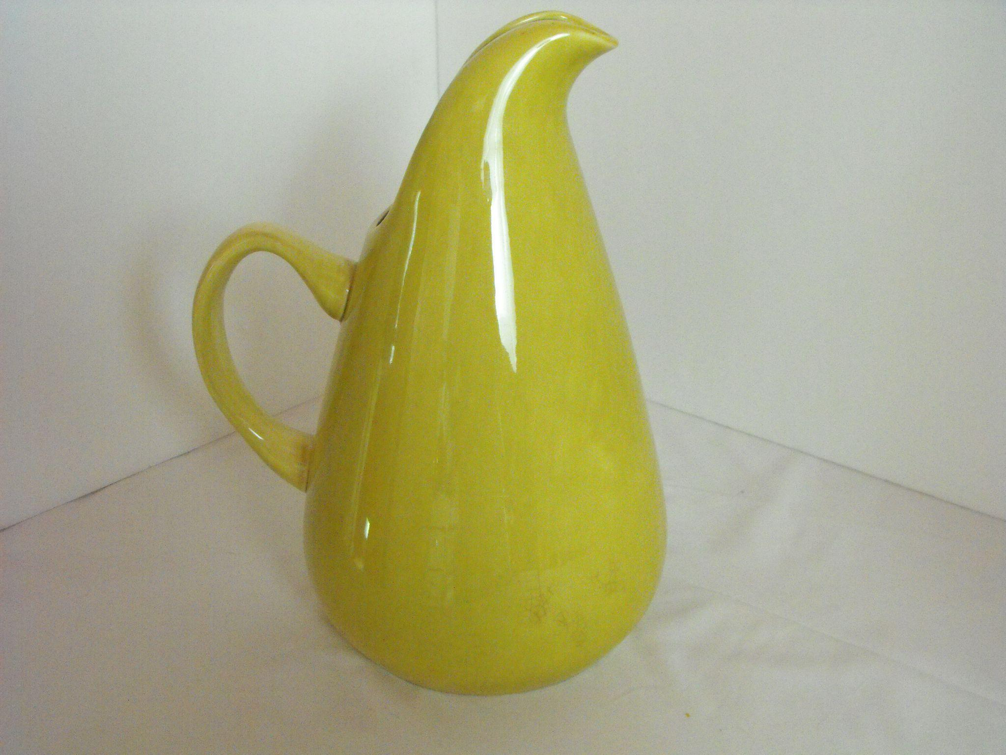 American modern chartreuse pitcher by russel wright ca mid century from orphanedtreasures on - Russel wright pitcher ...
