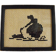 Cross stitch silhouette
