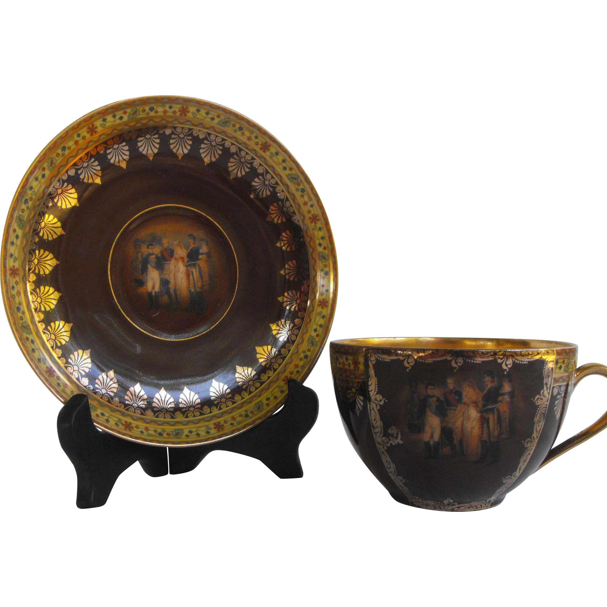 Friedrich Simon Carlsbad   Portrait Cup and Saucer   1900-1945