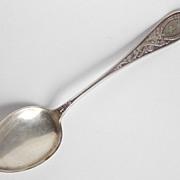 T.H. Marthinsen Silver 5 o'clock Teaspoon OSC LARSSEN - Monogrammed A - c. 1920
