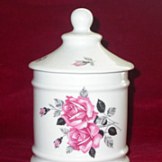 Limoges Ouragan France Romantic Apothecary JAR - Pink Roses
