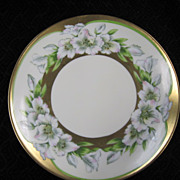 Hand Painted Cabinet Plate - Bavaria - PT Tirschenreuth -  Fringed Lily