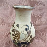 Mexico Signed Vase Tonala Bird