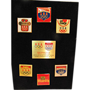 Assorted 1988 Olympic Proud Sponsor Limited Edition Commemorative Pin Set