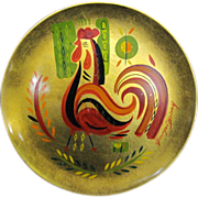 Georges Briard Round Rooster Tray