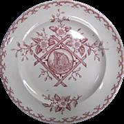 Aesthetic Movement Dinner Plate Alaska Pattern in red
