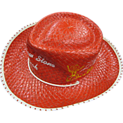 Child's Straw Cowboy Hat - Souvenir of Yellowstone Park