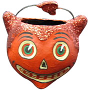 Papier Mache Devil Candy Container Collectible Dept. 56 - Red Tag Sale Item