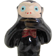 Speak No Evil Ceramic Monkey Figurine