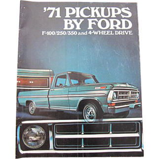 Ford Pickups Sales Brochure F-100/250/350 and 4-Wheel Drive
