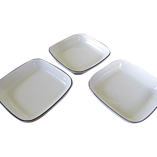 American Airlines - Pfaltzgraff - White with Blue Trim - Set of 3