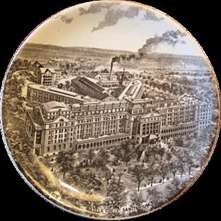 Souvenir Plate of the Battle Creek Sanitarium - Boulenger & Co. France