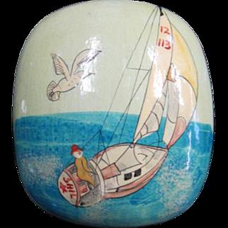 Lacquerware Trinket Box - Sailboat motif
