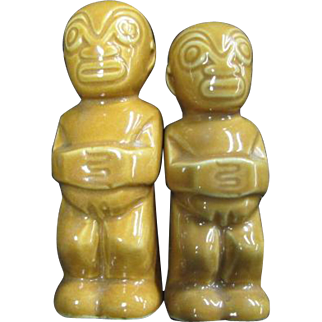 TIKI salt and pepper shakers - Trader Vic's