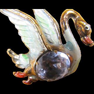 All plastic swan pin