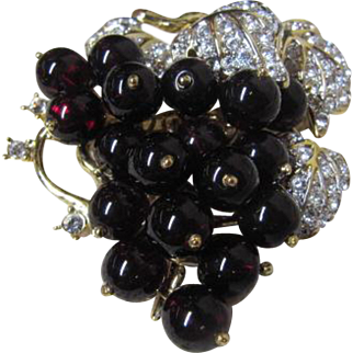 Gorgeous Bunch of Grapes fromThe Nolan Miller Glamour Collection
