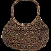 Mister Ernest Wooden Beads Handbag