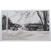 Susanville California J.H. Eastman Main Street in Winter