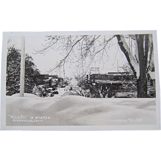 Susanville California J.H. Eastman Main Street in Winter