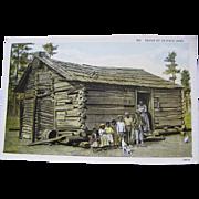 Seven Up in Dixie Land    Mom, 7 kids, old log cabin